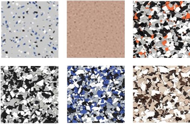 Armorpoxy flake colors