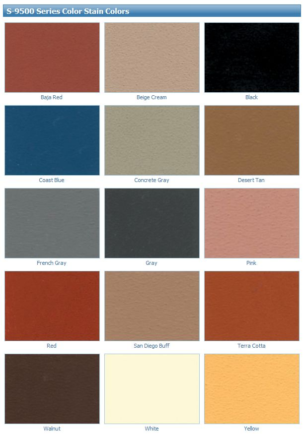 Super - Krete: S-9500 Series Color Stain Colors | Stain colors, Stained  concrete, Concrete stain colors