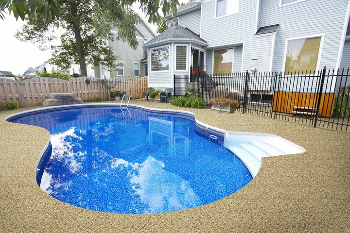 concrete stain pool deck